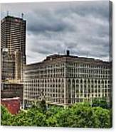 Hsbc Tower    Ellicott Square Buliding Canvas Print