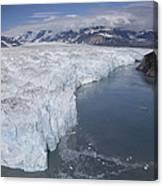 Hubbard Glacier Encroaching On Gilbert Canvas Print