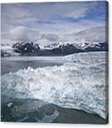 Hubbard Glacier Encroaching On Gilbert Point Canvas Print