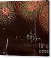 Hudson River Fireworks Xii Canvas Print