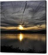 Hudson River Sunset Canvas Print