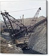 Huge Strip Mining Machinery Consuming Canvas Print