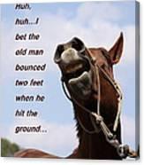 Huh Huh Horse Card Canvas Print