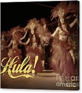 Hula Daguerreotype Canvas Print