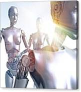 Humanoid Robots, Artwork Canvas Print