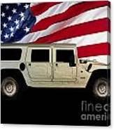 Hummer Patriot Canvas Print