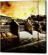 Huron River Dam Canvas Print