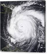 Hurricane Dean In The Atlantic Canvas Print