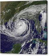 Hurricane Isaac In The Gulf Of Mexico Canvas Print