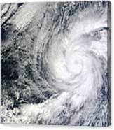 Hurricane Kenneth Off The Coast Canvas Print