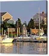 Hyannis Harbor At Sunset Canvas Print