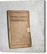 Hymnal Canvas Print
