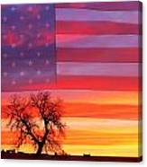 I Am Thankful To Be An American Canvas Print