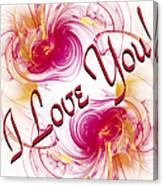 I Love You Card 1 Canvas Print