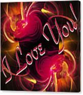 I Love You Card 2 Canvas Print