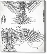 Icarus Patent 1889 Canvas Print