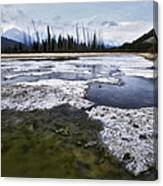 Ice And Water Vermilion Lakes Canvas Print