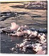 Ice At Sunset Canvas Print