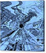 Ice Blue - Abstract Art Canvas Print