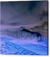 Ice Blue Stone Canvas Print