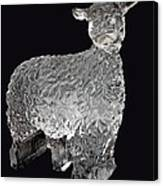 Ice Cold Lamb Carved In Ice Canvas Print