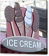 Ice Cream Sign Canvas Print