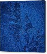 Ice Crystals Blue Design Canvas Print
