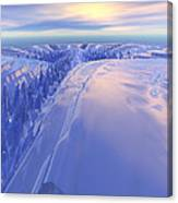 Ice Fissure Canvas Print