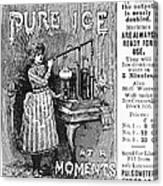 Ice Machine, 1891 Canvas Print