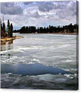 Ice On The Yellowstone River Canvas Print