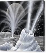 Ice Volcanoes On Charon, Artwork Canvas Print