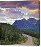 Icefields Parkway, Jasper National Canvas Print