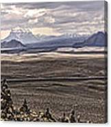 Iceland Stacked  Rocks Panorama Canvas Print