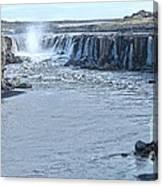 Iceland Waterfall Selfoss 03 Canvas Print