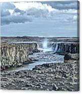 Iceland Waterfall Selfoss 04 Canvas Print