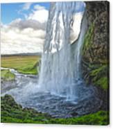 Iceland Waterfall Seljalandsfoss 01 Canvas Print