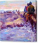 Icelandic Horse Trail Ride Canvas Print