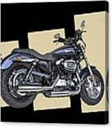 Iconic Harley Davidson Canvas Print