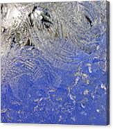 Icy Window Pane Canvas Print