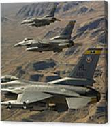 Ighter Jets Return From The Nevada Test Canvas Print
