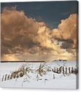 Illuminated Clouds Glowing Above A Canvas Print