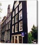 Illusion Of A Two Dimensional Building In Amsterdam Canvas Print