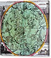 Illustration From Atlas Coelestis Canvas Print