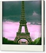 Illustration Of Eiffel Tower Canvas Print