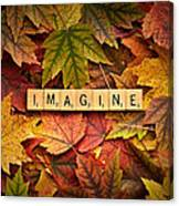 Imagine-autumn Canvas Print