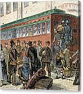 Immigrants, Nyc, 1880 Canvas Print