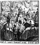 Immigration Cartoon, 1869 Canvas Print