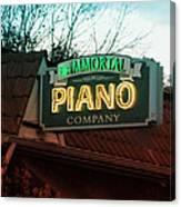 Immortal Piano Co Canvas Print