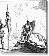 Impalement Of Waldenses Canvas Print