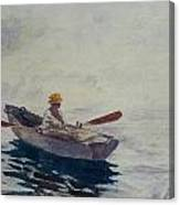 In A Boat Canvas Print